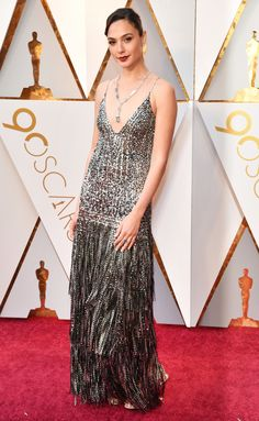 1e9fd18166 See the standout looks from Hollywood's most glamorous evening GAL GADOT  wears a dark metallic beaded