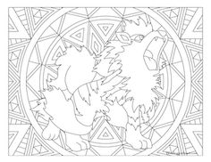 free printable pokemon coloring page arcanine coloring fun for all ages adults and children