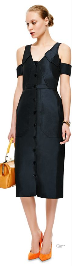 Carven ● 2014, Satin-Twill Button-Up Dress