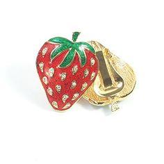 streitstones Erdbeere Metall-Ohrklips mit Swarovski vergoldet und emailliert bis zu 50 % Rabatt streitstones http://www.amazon.de/dp/B00V93W1M2/ref=cm_sw_r_pi_dp_uRrfvb1GJBQYH