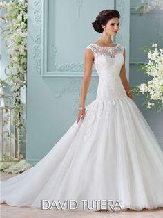David Tutera for Mon Cheri Wedding Dress Style 116226 | House of Brides