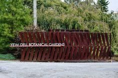 Yew Dell Botanical Garden Visit, Thinking Outside the Boxwood, Corten Gate