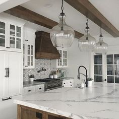 Supreme Kitchen Remodeling Choosing Your New Kitchen Countertops Ideas. Mind Blowing Kitchen Remodeling Choosing Your New Kitchen Countertops Ideas. Stylish Kitchen, New Kitchen, Kitchen Decor, Awesome Kitchen, Decorating Kitchen, Kitchen Wood, Kitchen Themes, Kitchen White, White Kitchens