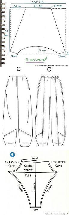 Бохо-штанишки с выкройками