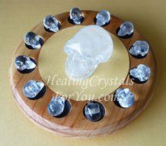 13 Clear Quartz Crystal Skulls