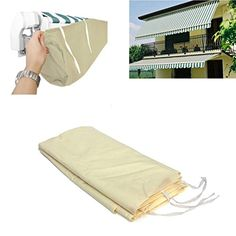 KING DO WAY Garden Patio Awning Sun Shade Canop Shelter Weather Cover Storage Bag Carrier 4m