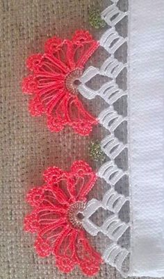 This Pin was discovered by azi Cross Stitch, Projects, Point Lace, Crochet Edgings, Hand Embroidery, Needle Lace, Crochet Motif, Punto De Cruz, Tutorials