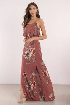Wear the Madeline Floral Maxi Dress to your next outing. Featuring all over floral print and side slit. Wear with heels to complete the look. - Fast & Free Shipping For Orders over $50 - Free Returns within 30 days!