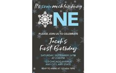 Snow Much Fun to be One Invitation, First Birthday Invitation, Boy 1st Birthday, Winter Onederland, Winter Birthday Invitation, Boy Birthday
