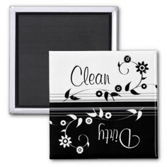 Give your refrigerator a personal touch with personalized Dirty Clean For Dishwasher magnets from Zazzle! Shop from monogram, quote to photo magnets, or create your own magnet today!