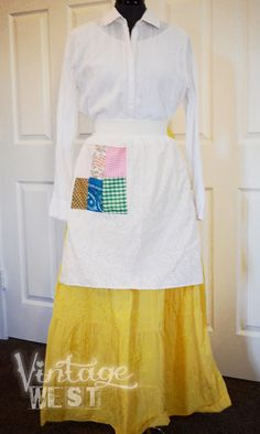 Pioneer Trek Outfit - 018. $25.00, via Etsy. - good price for the shirt, skirt, and apron
