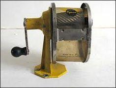 vintage pencil sharpener - wish I still had one!!!