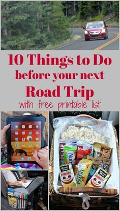 Road Trip tips, hacks & Checklist {free printable Car Trip Planner!} for long car trips, family travel & vacations with kids! Tips on car organization, ideas for healthy snacks, activities to keep kids buys and how to get ready for a long car trip! Road Trip With Kids, Family Road Trips, Travel With Kids, Family Travel, Family Vacations, Pack For Road Trip, Road Trip Checklist, Road Trip Essentials, Travel Checklist