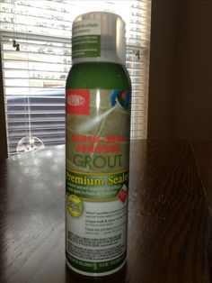 Just sealed our clean tile grout with this easy spray on sealer that we purchased at lowes! Presto change-o brand new looking tile again.