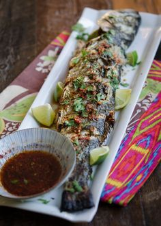 Grilled Fish with Soy Lime Chili Sauce @beyondkimchee