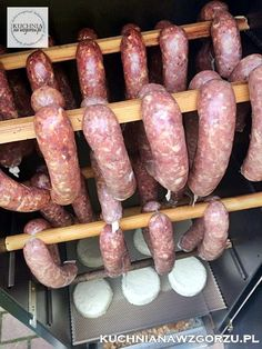 jak uwedzic kielbase Sausage, Grilling, Meat, Diy, Food, Bricolage, Crickets, Meals, Sausages