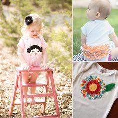 Handmade Baby Girl Onesies