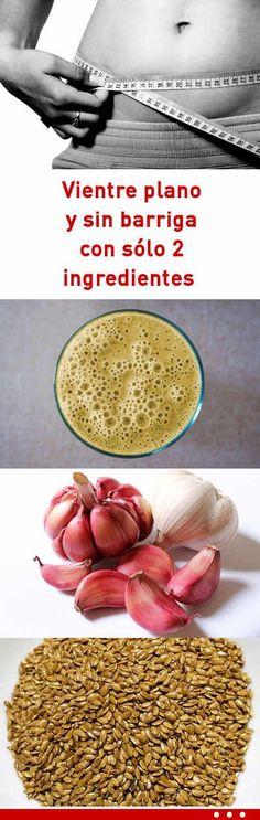 Vientre plano y sin barriga con sólo 2 ingredientes