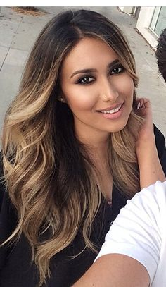 Hair Highlights Light Balayage 60 New Ideas Ombré Hair, New Hair, Hair Bangs, Cabelo Ombre Hair, Hair Color And Cut, Hair Colour, Blonde Color, Ombre Color, Blonde Brunette