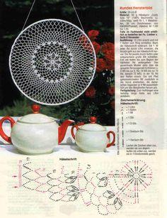 Mandala patron We are want to say thanks if you like to sh Crochet Doily Diagram, Crochet Mandala Pattern, Crochet Motifs, Crochet Art, Crochet Round, Doily Patterns, Crochet Home, Thread Crochet, Irish Crochet