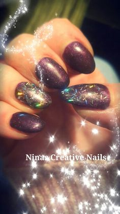 Aubergine Nails