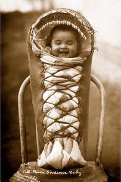 Achomawi baby 1910 Native American Indian