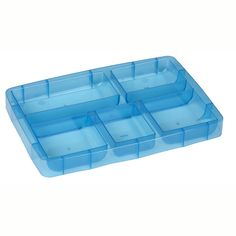 Battery Organizer Tray - 6 x 9 Blue Snap 'n Stack by Snapware