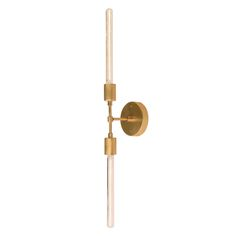 Cedar & Moss Vista 2 brass sconce with modern bulbs