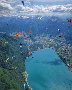 """@ozoneparagliders on Instagram: """"Coeur de Savoie, France, Day 3 The PWCA reports: """"Today we went to Col de Forclaz high above Lake…"""""""