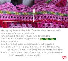 crochet edging for granny square blankets