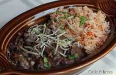 Mexican Rice and Beans...great meatless meal or sides!