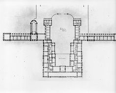 GENERAL PLAN OF PITTI PALACE,FLORENCE,Italy,1874 Plans
