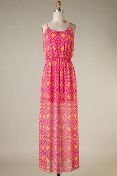 Tea for Two Maxi - Yellow and Pink | Hazel & Olive