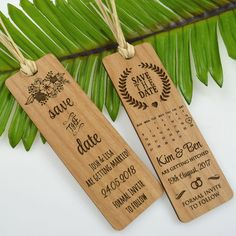 50 x Engraved Wooden Save The Date Laser Cut Bookmark