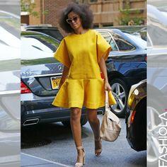 Solange Knowles dans en jaune!! Ravissante