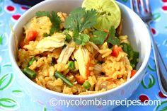 Arroz con pollo Colombiano Receta