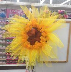 Deco Mesh Sunflower via A.C. Moore Matthews, NC