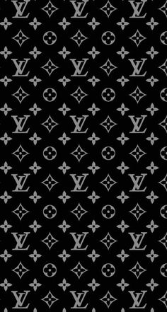 iPhone wallpaper Louis Vuitton black nicolicious