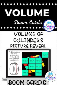 Are you looking for an interactive and self-correcting resource to practice finding the volume of cylinders with your students? There are 2 different pictures with 16 problems for each picture. Students start with the picture totally covered by the answer boxes. As they answer each question correctly, more and more of the covered picture is revealed.