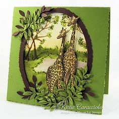 Giraffes by ladybug91743 - Cards and Paper Crafts at Splitcoaststampers