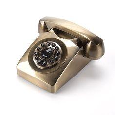 Telefone Retrô Dourado - Lili Wood