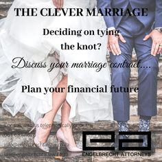 "Getting married?  We can assist with marriage contracts.  ""Proper planning prevents poor performance""  Engelbrecth Attorneys  Contact us: Eloise Engelbrecht +27616324626   info@engelbrechtatlaw.co.za law@engelbrechtatlaw.co.za  Our firm is glad to assist with the following:  ➡️Marriage contracts ➡️Life partnership agreements ➡️Civil union agreements ➡️Customary marriage agreement  Be safe, be kind and happy planning Tie The Knots, Getting Married, Law, How To Plan, Happy, Tying The Knots, Happiness"