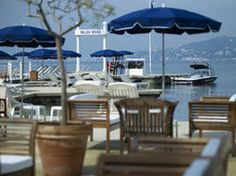 The private beach Scott and Zelda once had to themselves and their parties: Hotel Belles Rives - Antibes Juan-les-pins