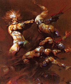 Frank Frazetta, clean cover art for Conan of Aquilonia by L. Frank Frazetta, Science Fiction, New York City, Brooklyn, Fantasy Comics, Sword And Sorcery, Comic Book Artists, Fantastic Art, Amazing