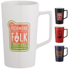 Promotional 20 oz Venti Ceramic Mug #1622-71 #coffee #logo #mugs #promoproducts #marketing | Customized Ceramic Coffee Mugs | Logo Ceramic Coffee Mugs
