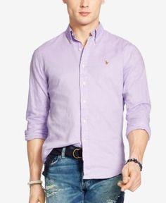 Polo Ralph Lauren Men's Chambray Oxford Shirt - Lavendar XL