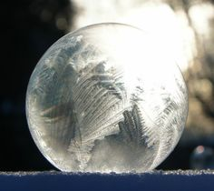 Amanda Freeman, daughter of PPD physicist Jim Freeman, took this picture of a soap bubble frozen by the blistering cold air earlier this month. Photo: Amanda Freeman
