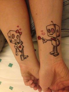 Super cute couples tattoo idea. Follow me on Pinterest for more great tattoo, crafty  random pins!!!!! :)