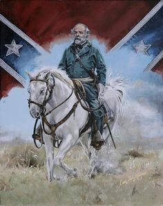 Civil War Art Confederate General Robert E Lee by Brushedmemories, 15.00
