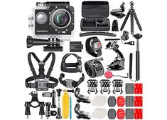New and high quality 56 pcs accessories set kit for GoPro hero. Compatible with: GoPro HD Hero A cool, special and practical design. Gopro Hero 4, Gopro Accessories, Photo Accessories, Camcorder, Kit, Action Cam, Go Pro, Sony, Gopro Hd